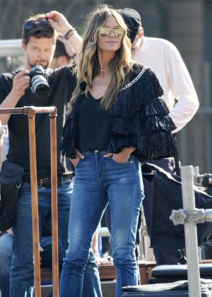 Heidi Klum on the set of 'Germany's Next Top Model' in Hollywood