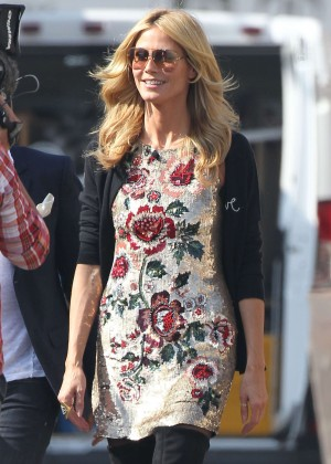 "Heidi Klum - Set of ""Germany's Next Top Model"" Shooting in LA"