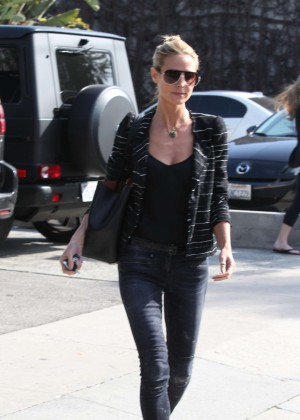 Heidi Klum in Tight jeans Out in LA