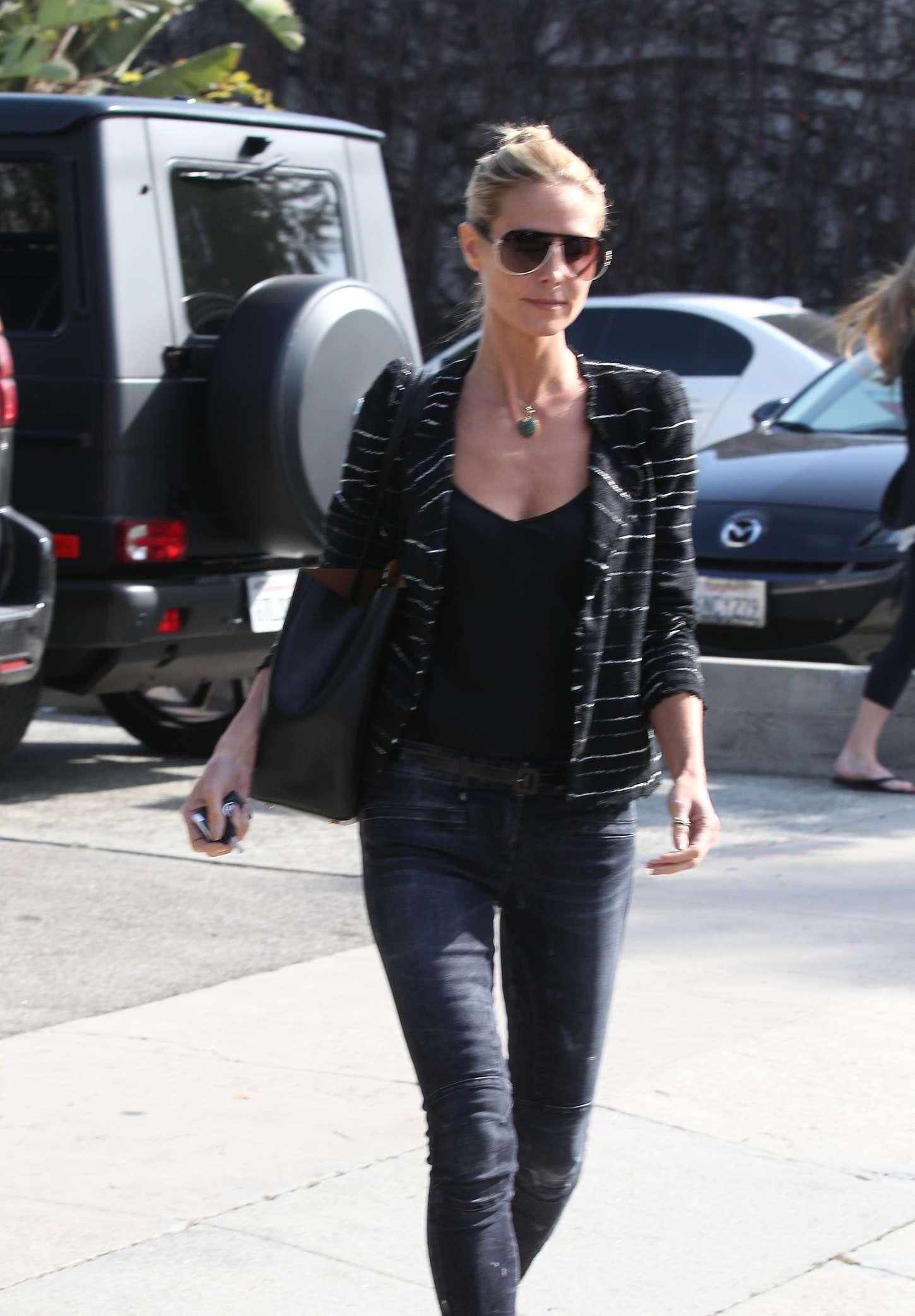 Heidi Klum in Tight jeans Out in LA
