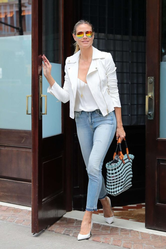 Heidi Klum Out and about in NY -07