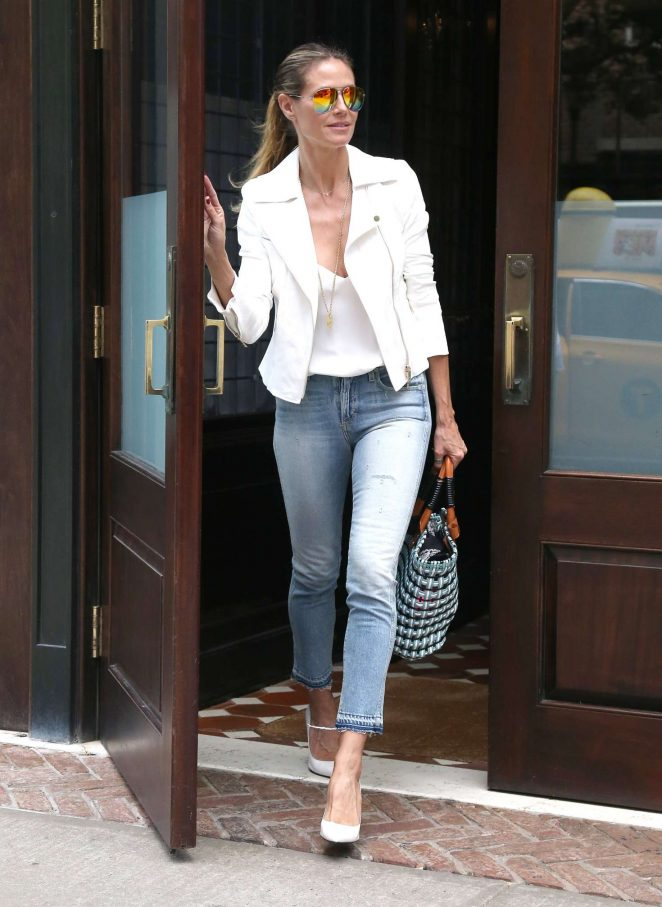 Heidi Klum Out and about in NY -08