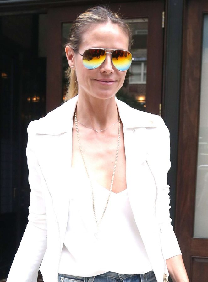 Heidi Klum Out and about in NY -09