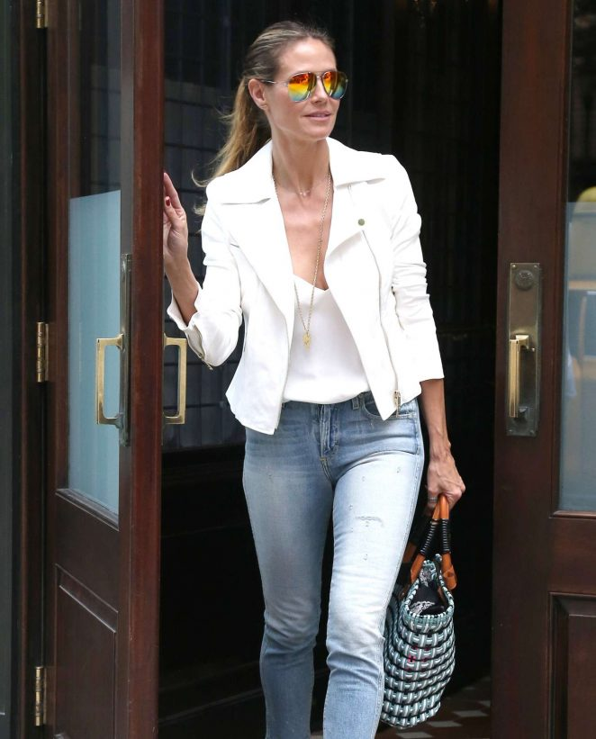 Heidi Klum Out and about in NY -10