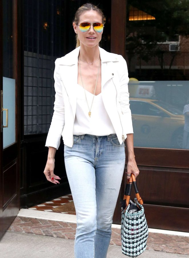 Heidi Klum Out and about in NY -12
