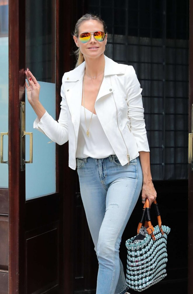 Heidi Klum Out and about in NY -17