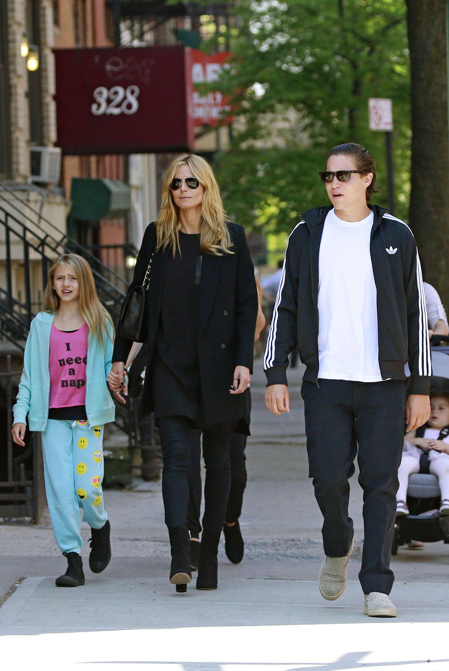 Heidi Klum 2015 : Heidi Klum in jeans -10
