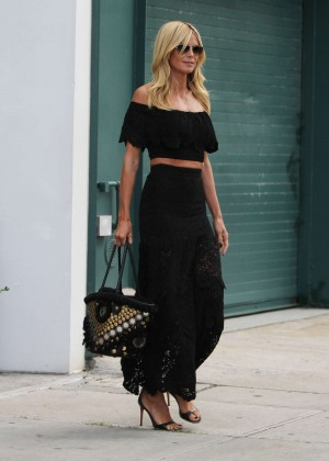 Heidi Klum - Out and about in NYC