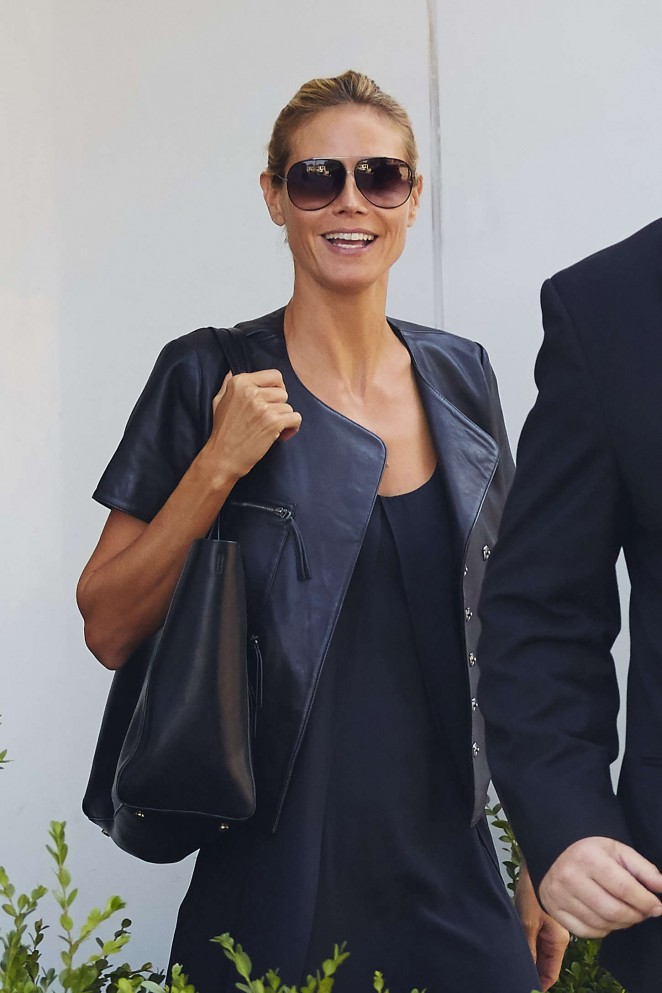 Heidi Klum out and about West Village