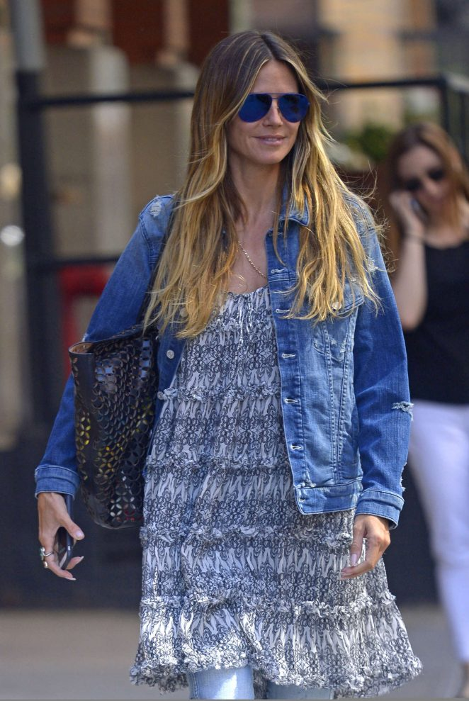 Heidi Klum out for a walk in New York City