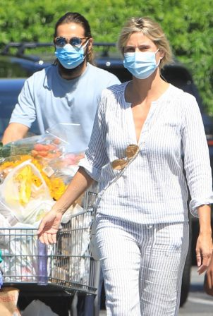 Heidi Klum - Out for shopping with husband Tom Kaulitz in Los Angeles