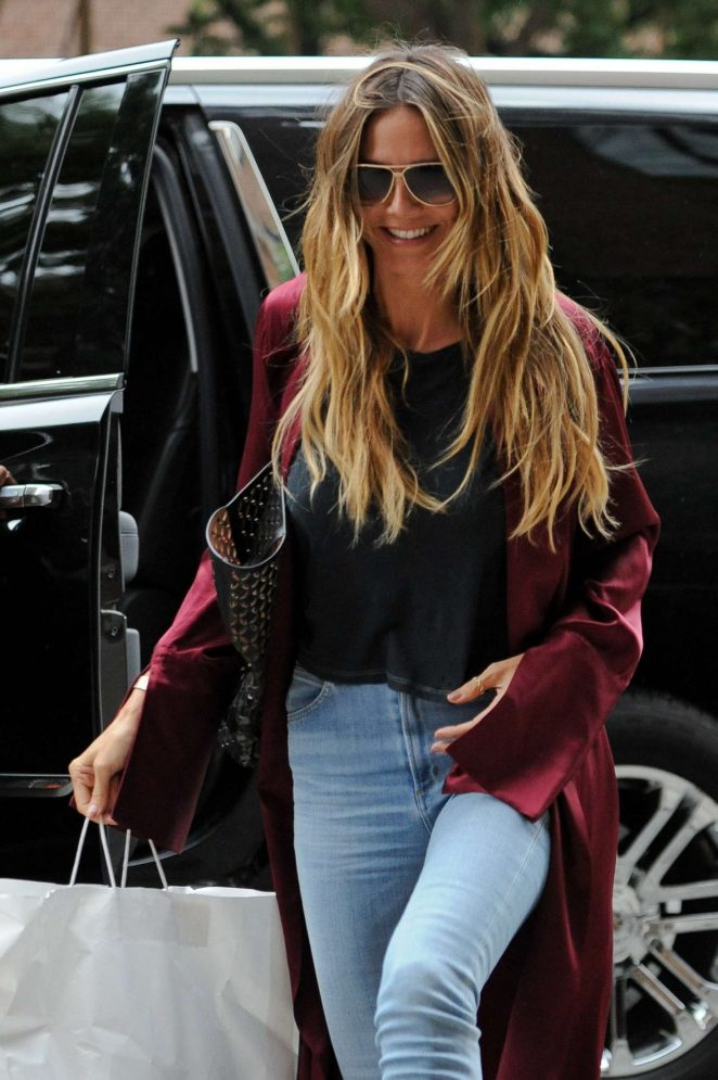 Heidi Klum out in New York City