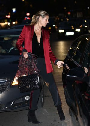 Heidi Klum out in Paris