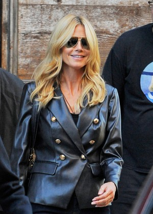Heidi Klum out in West Village