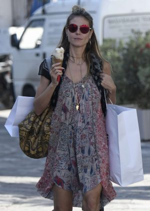 Heidi Klum out shopping in Mykonos