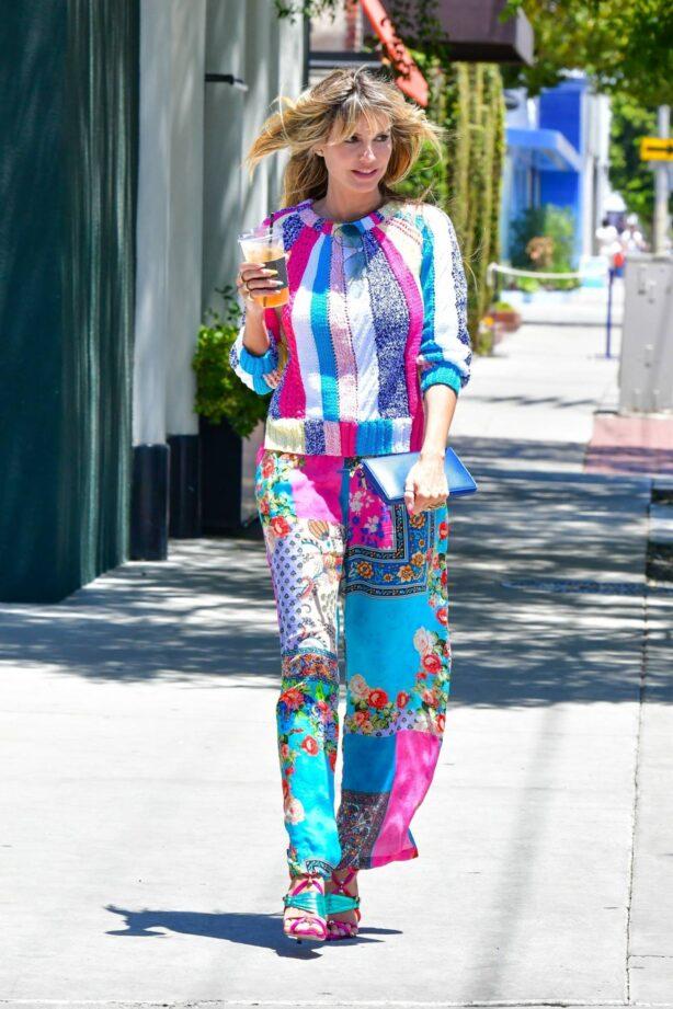 Heidi Klum - Rocks colorful style in West Hollywood