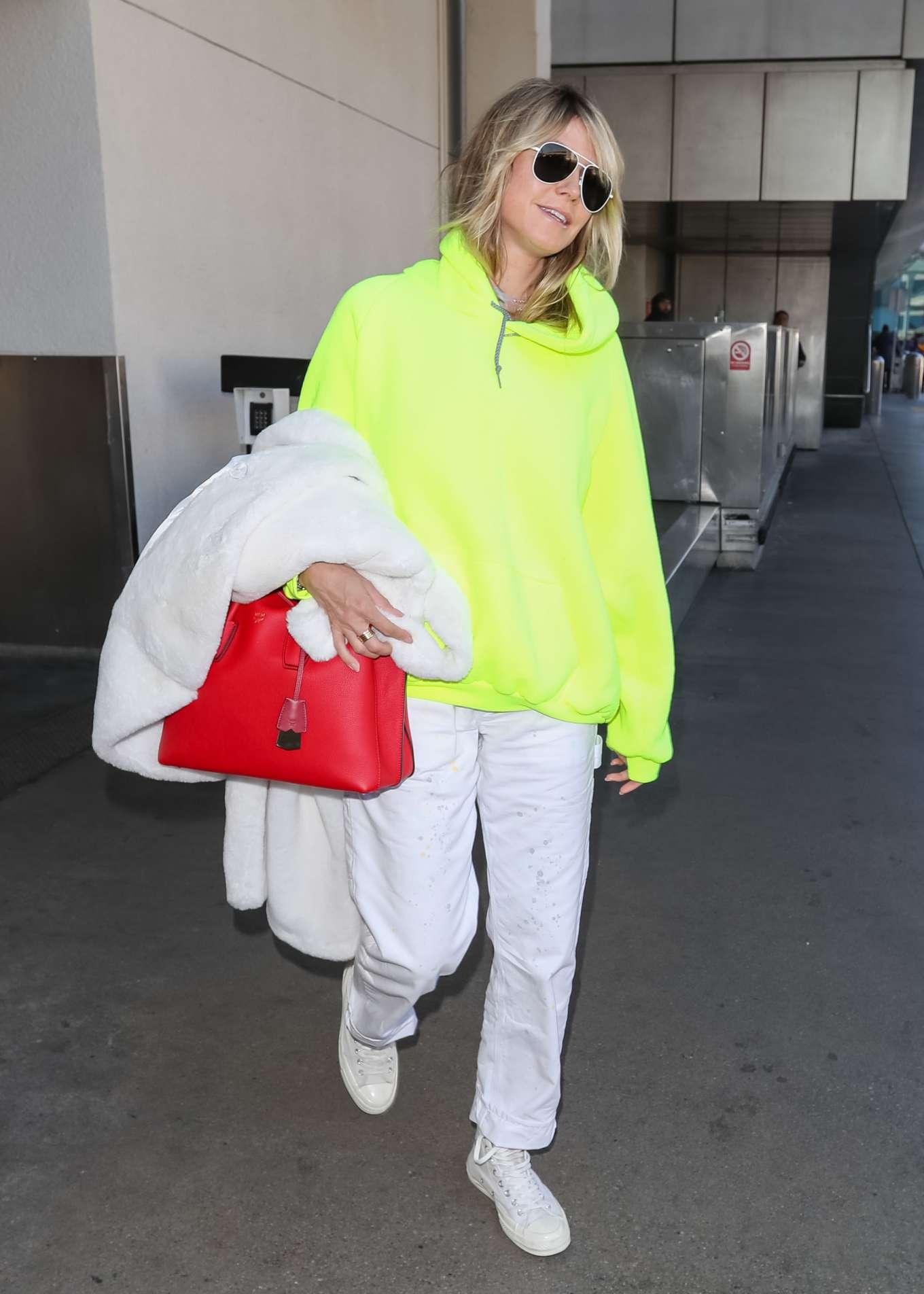 Heidi Klum - Seen at LAX airport in Los Angeles