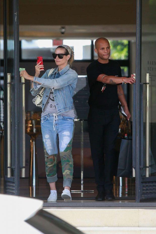 Heidi Klum: Shopping at Barneys New York-01