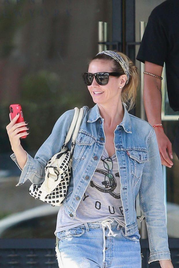 Heidi Klum: Shopping at Barneys New York-02