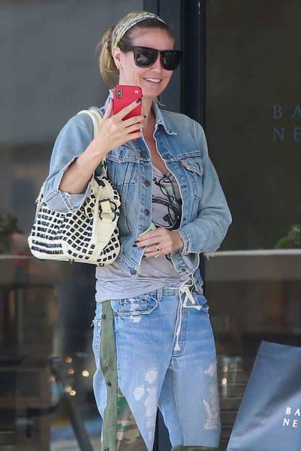 Heidi Klum: Shopping at Barneys New York-06
