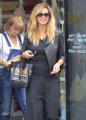Heidi Klum - Shopping at Mood Fabrics in Beverly Hills