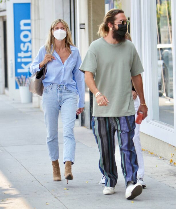 Heidi Klum - Shopping candids at Rodeo Dr. with husband Tom