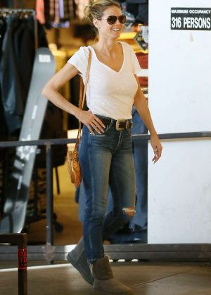 Heidi Klum Shopping for Snowboard Gear in West Hollywood