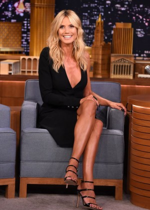 Heidi Klum - 'The Tonight Show Starring Jimmy Fallon' in NYC