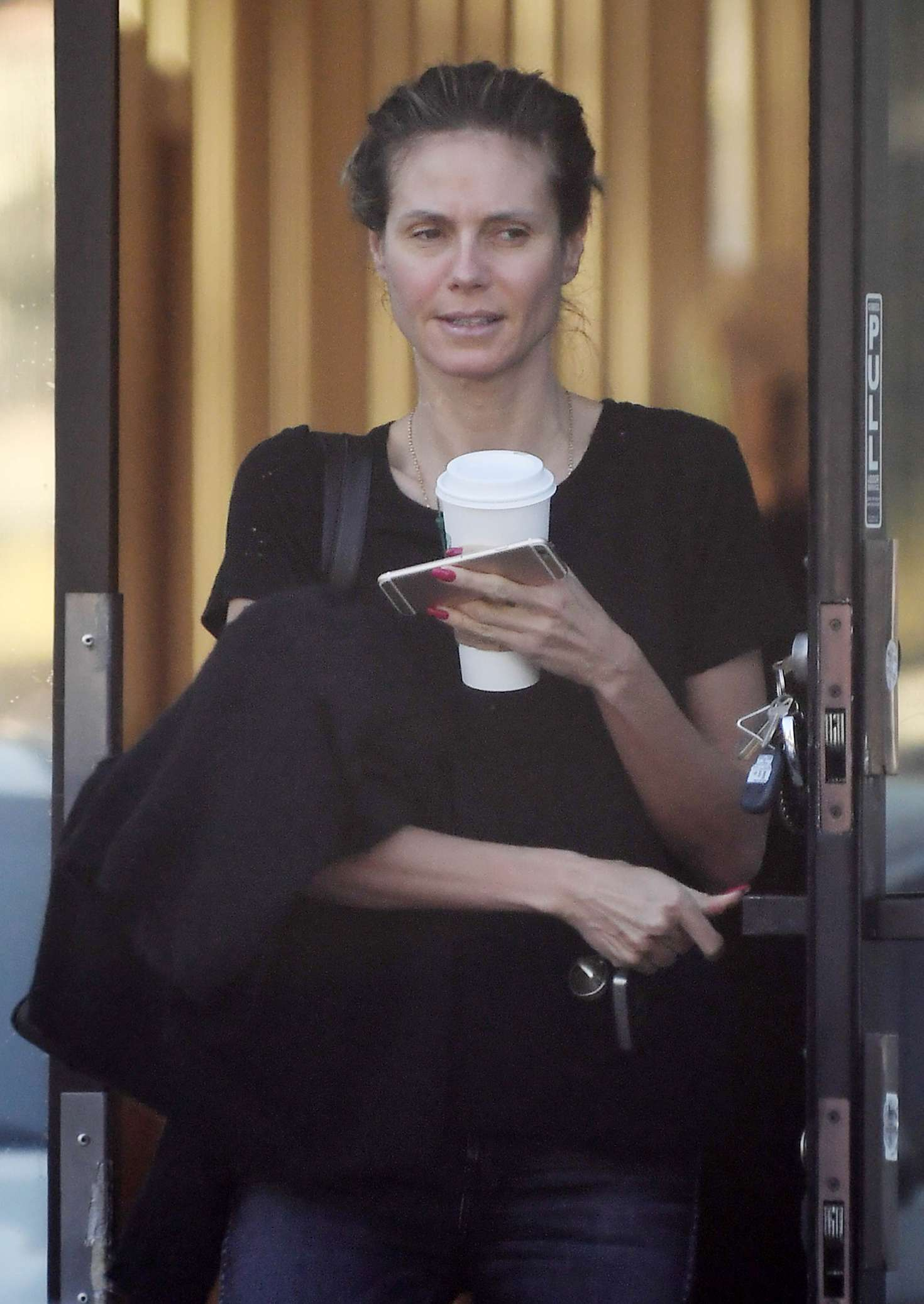 Heidi Klum treats herself to a microdermabrasion facial in Hollywood