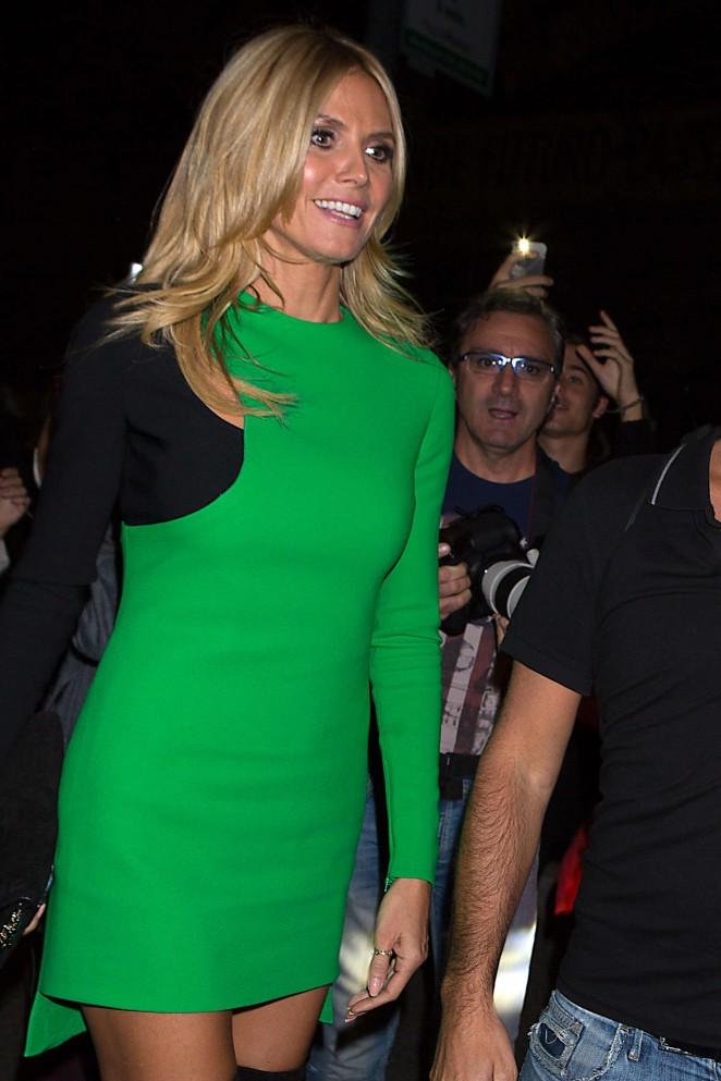Heidi Klum - Versace Fashion Show SS 2015 in Milan