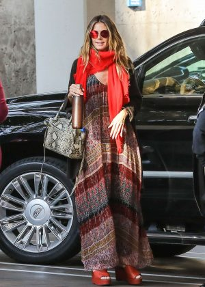 Heidi Klum Visits the Consulate General of Germany in Los Angeles