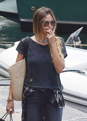 Heidi Klum with boyfriend Vito Schnabel on holiday in Portofino