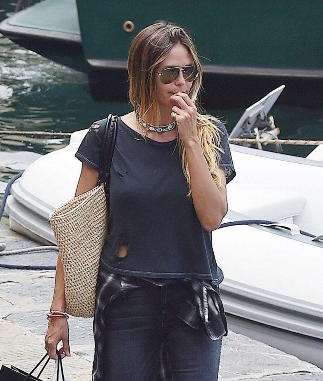 Heidi Klum with boyfriend Vito Schnabel on holiday in Portofino