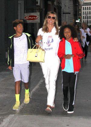 Heidi Klum with her children in New York City