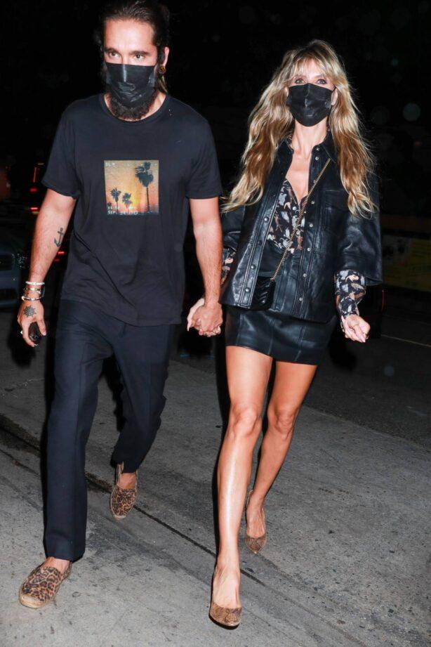Heidi Klum - With husband Tom Kaulitz seen at E Baldi Restaurant in Santa Monica