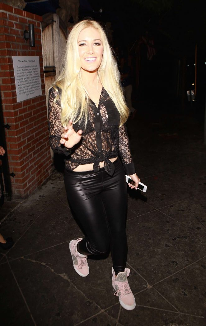 Heidi Montag Arrives to the Abbey in West Hollywood