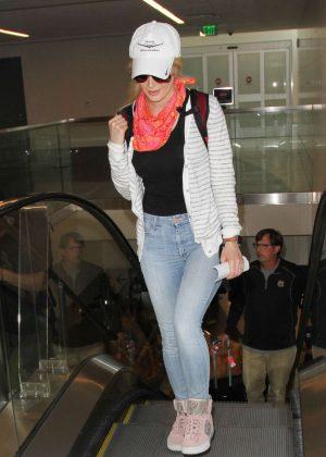 Heidi Montag at Los Angeles International Airport