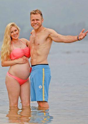 Heidi Montag in a Bikini With Spencer Pratt in Hawaii