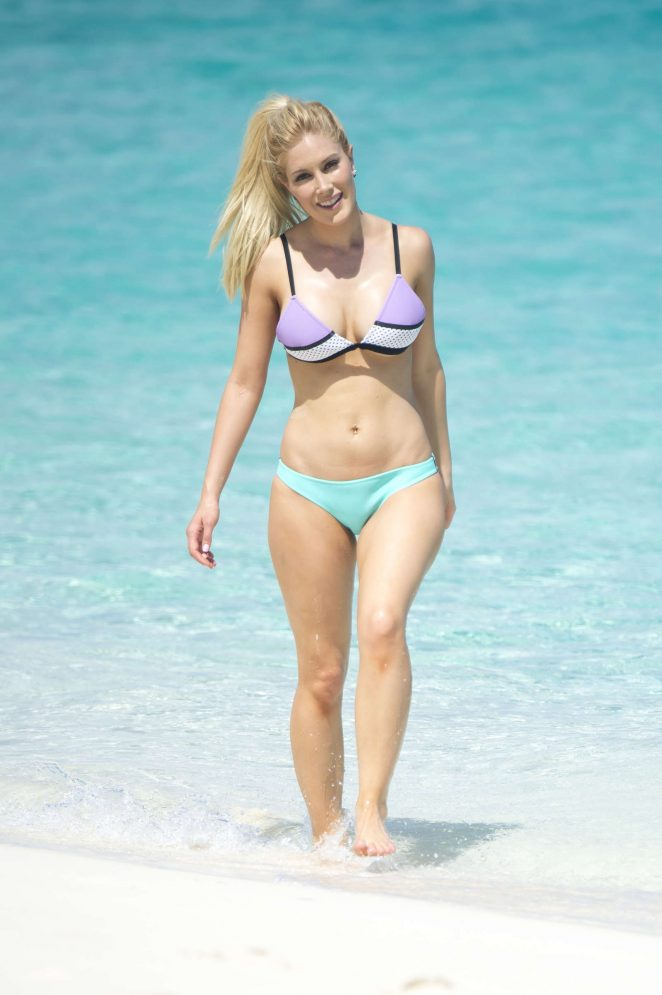 Heidi Montag in Bikini on the beach in Bahamas