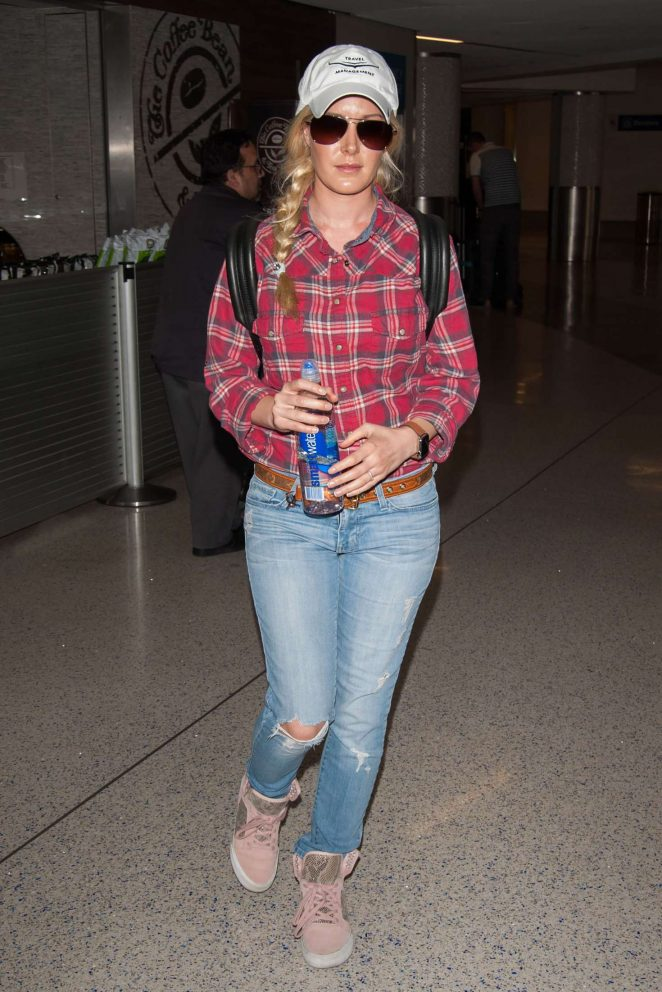 Heidi Montag in Jeans at LAX airport Los Angeles