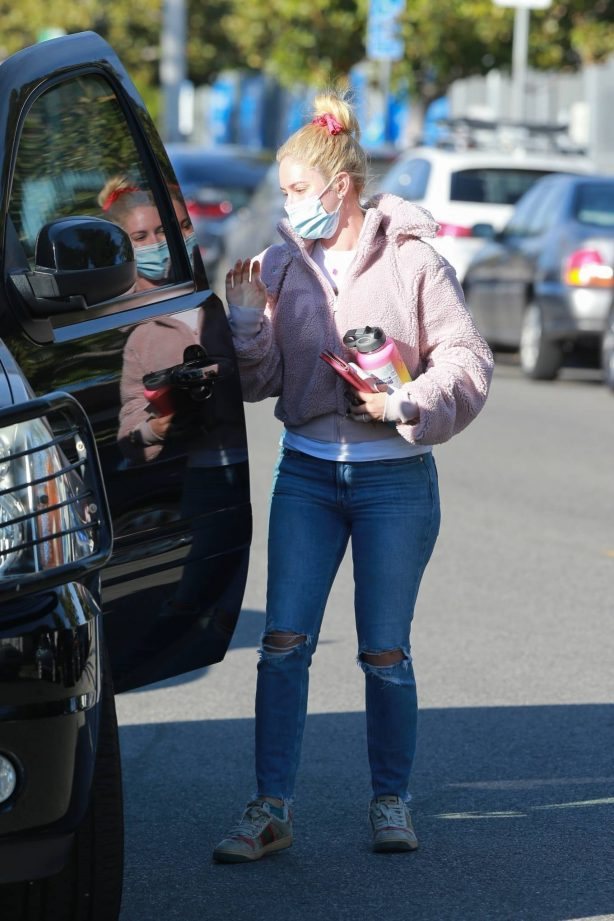 Heidi Montag - In ripped jeans out in Santa Monica