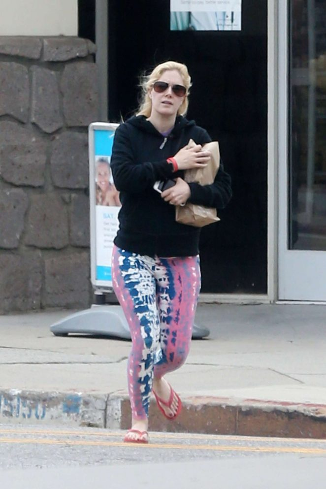 Heidi Montag Leaving a pharmacy in Brentwood