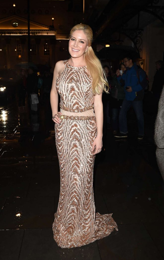 Heidi Montag - Leaving the 'Phantom Of The Opera West End' in London