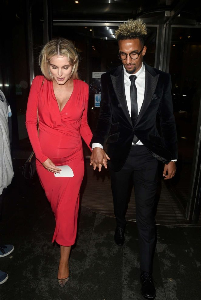 Helen Flanagan and Scott Sinclair - Leaving the Kym Marsh Footprint Charity Ball in Manchester