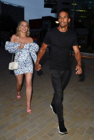 Helen Flanagan - Night out in floral dress on date night in Manchester