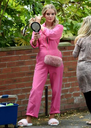 Helen Flanagan on the set of Coronation Street in Manchester