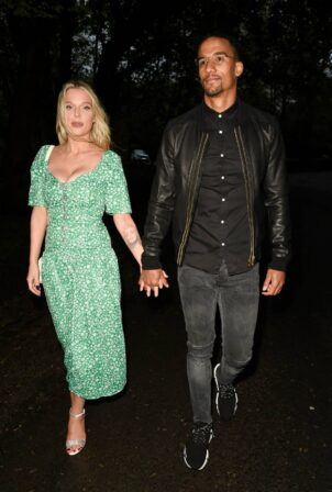 Helen Flanagan - with her fiancé footballer Scott Sinclair Night out in Cheshire