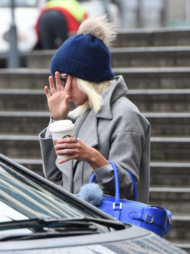 Helen George out and about in Birmingham
