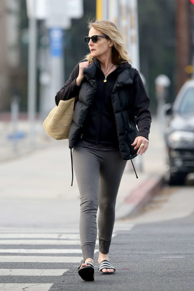Helen Hunt – Heads the yoga studio in LA