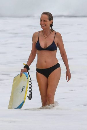 Helen Hunt in Bikini at a beach in Malibu